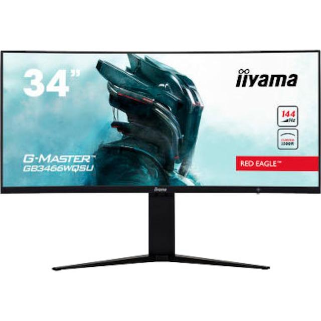 Iiyama »G-MASTER GB3466WQSU-B1« Curved-Gaming-LED-Monitor (34 Zoll, 3440 x 1440 Pixel, UWQHD, 1 ms Reaktionszeit, 144 Hz)