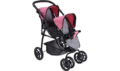 "Knorrtoys® Puppen - Zwillingsbuggy ""Milo  -  jeans grey"" kaufen"