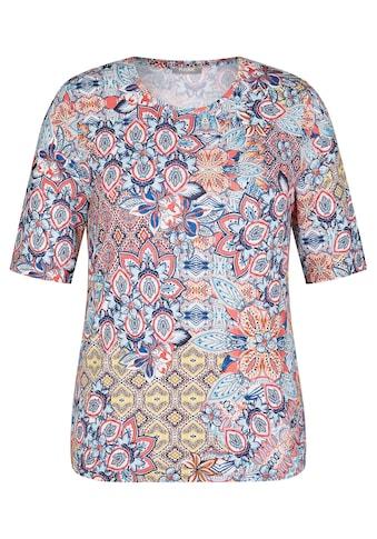 Rabe Rundhalsshirt, mit buntem Muster und Rundhals kaufen