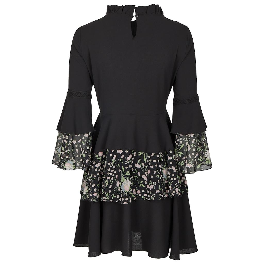 Nicowa Mini-Kleid mit Volants und Blumenprint - NIFLORO