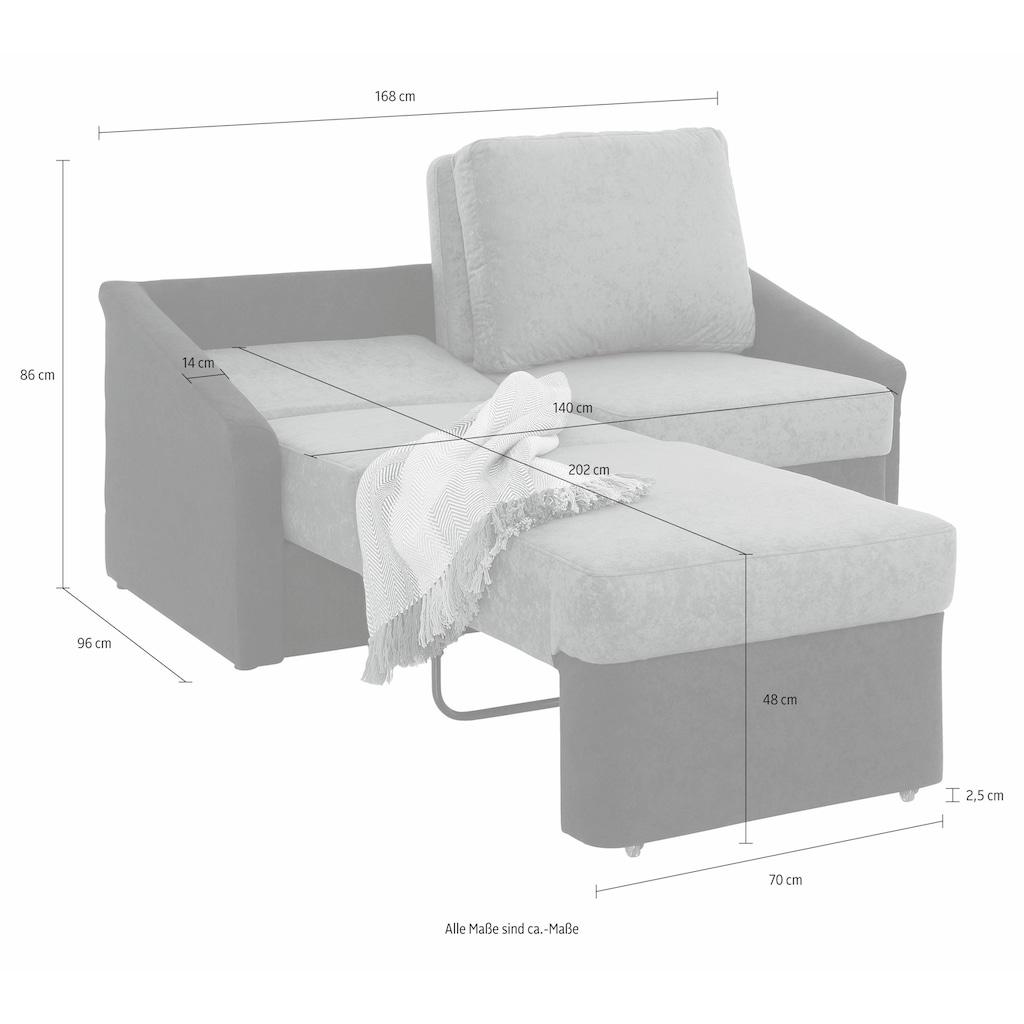 Home affaire 2-Sitzer »Sleepy«, mit Schlaffunktion