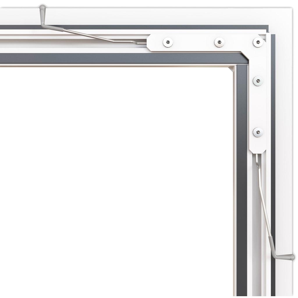 hecht international Insektenschutz-Fenster »COMPACT«, weiß/anthrazit, BxH: 130x150 cm
