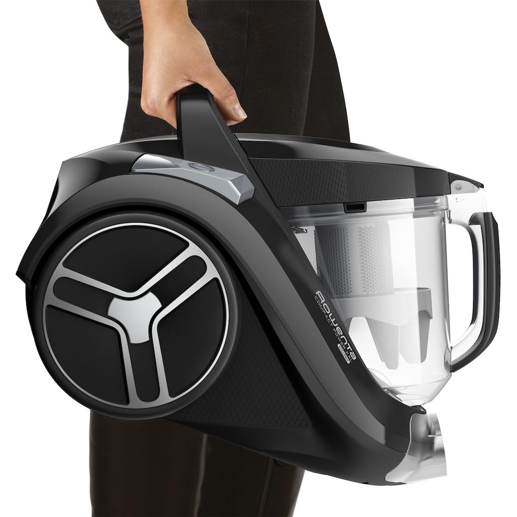 Rowenta Bodenstaubsauger »RO4825 Compact Power XXL, inkl. Gratis Parkettdüse,«, 550 W, beutellos, Spitzensaugleistung: Dank EffiTech-Motor-Technologie