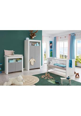 Babyzimmer-Komplettset »Lissabon«, (Set, 3 tlg.), Bett + Wickelkommode + 2 trg. Schrank kaufen