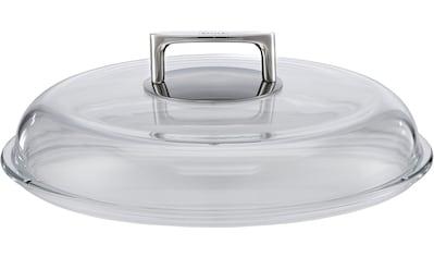 RÖSLE Deckel »SILENCE«, (1 tlg.), Glasdeckel mit Griff aus Edelstahl, Zubehör für... kaufen
