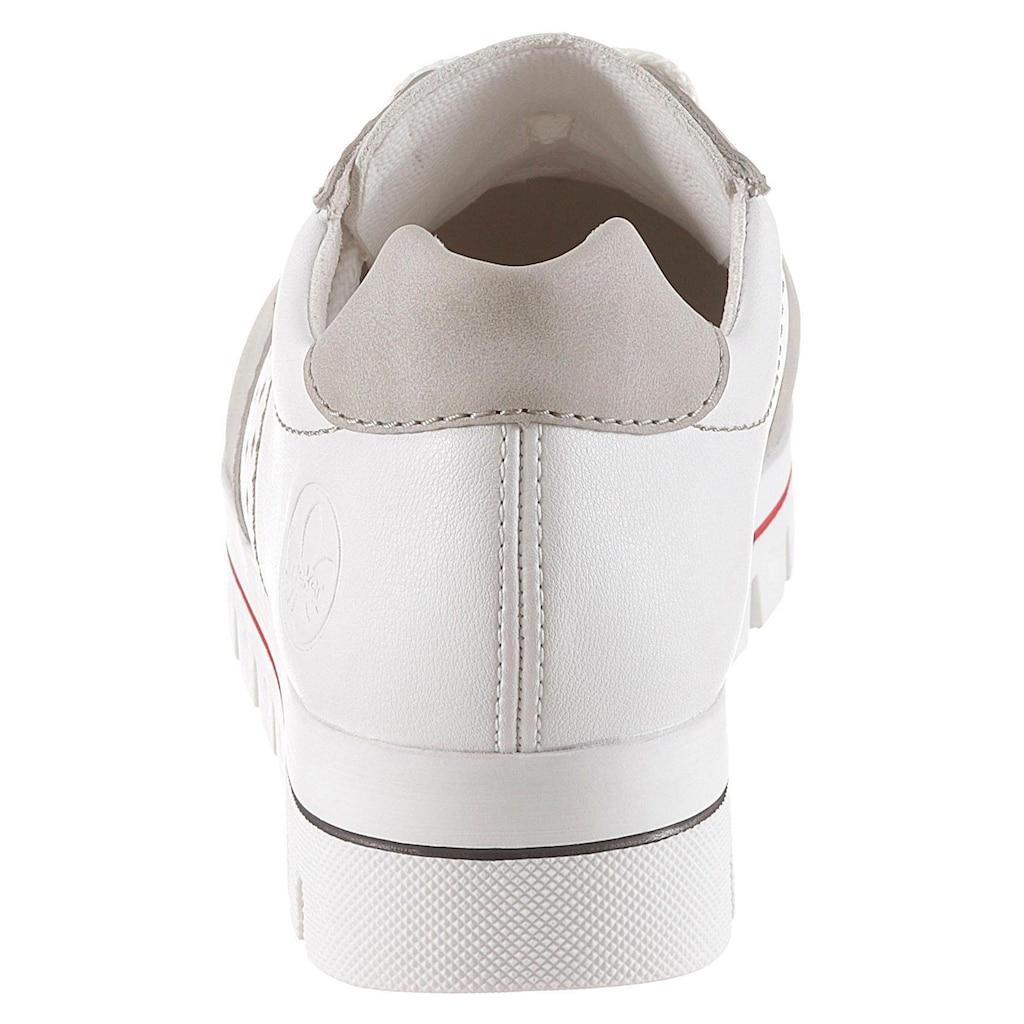 Rieker Sneaker, in auffälliger Farbkombi