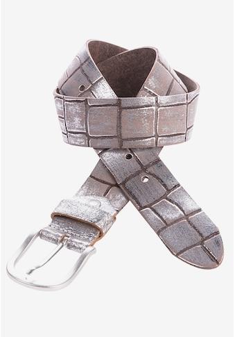 Cipo & Baxx Ledergürtel, mit Metallic-Effekt kaufen
