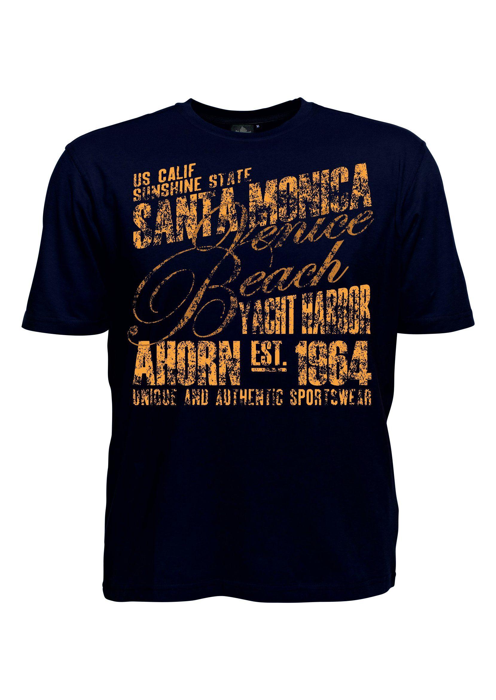 AHORN SPORTSWEAR T-Shirt mit sportlichem Frontdruck | Sportbekleidung > Sportshirts > T-Shirts | Schwarz | Baumwolle