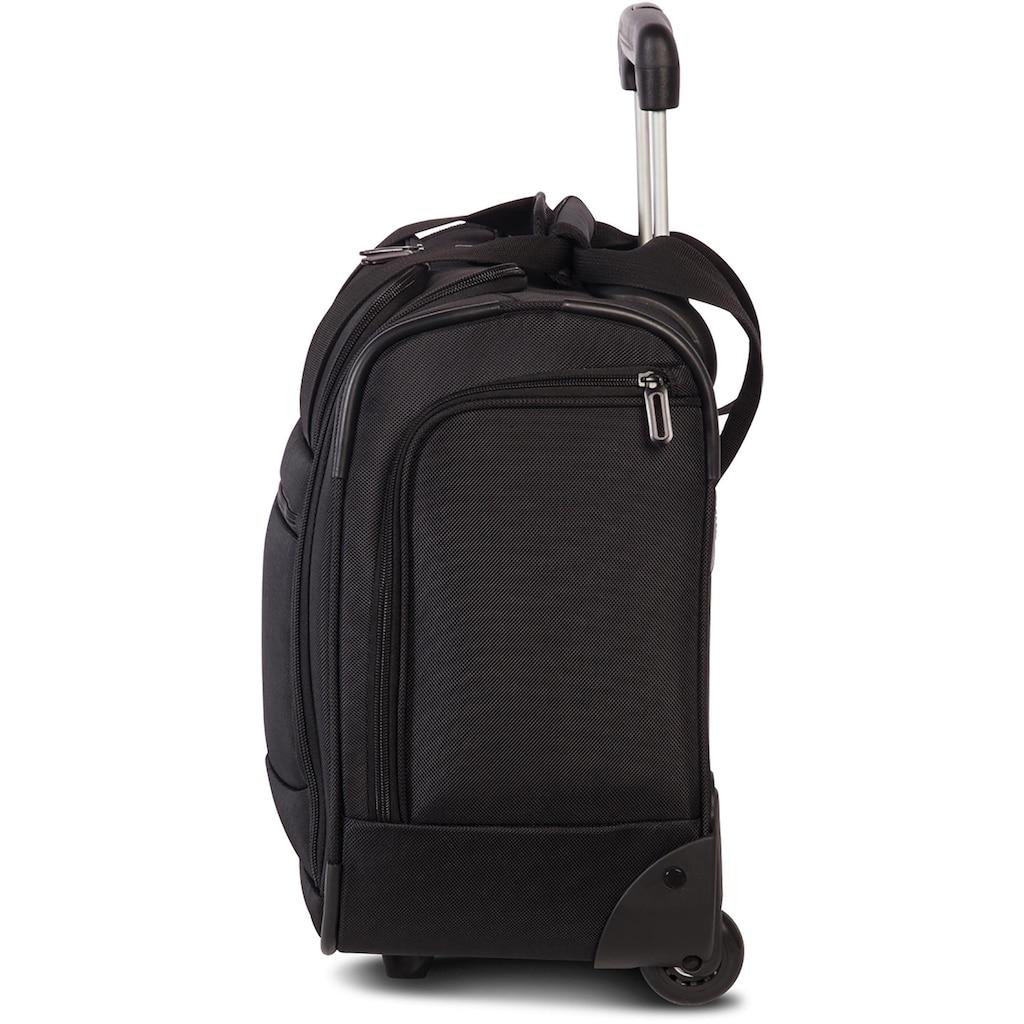 fabrizio® Weichgepäck-Trolley »Bestway Under Seat, 41 cm, schwarz«, unter dem Flugzeugsitz verstaubar
