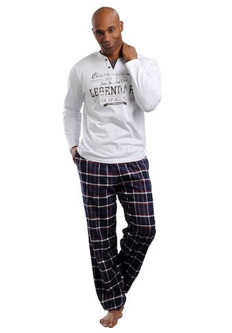 H.I.S Pyjama, in langer Form mit Flanellhose kaufen