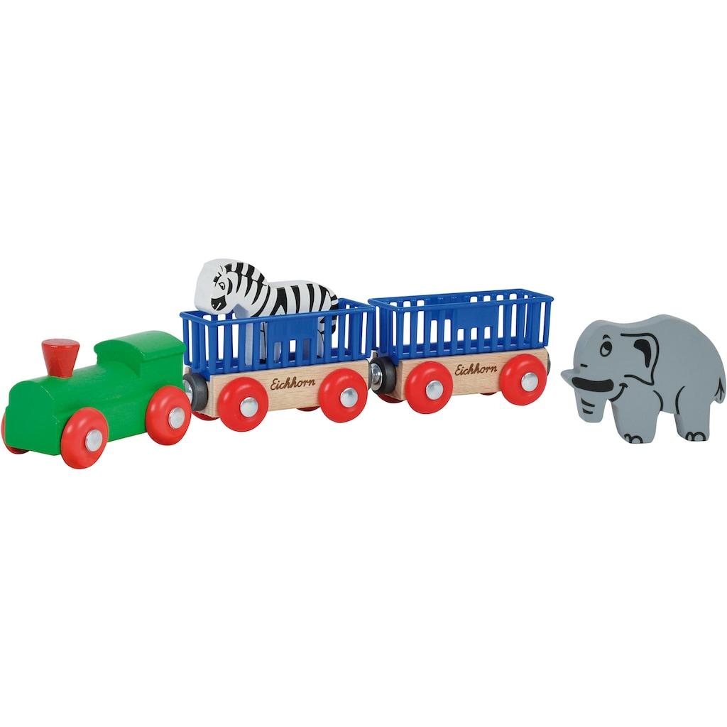 Eichhorn Spielzeug-Eisenbahn »Tierzug, 5-tlg.«, aus Holz; Made in Europe, FSC®-Holz aus gewissenhaft bewirtschafteten Wäldern