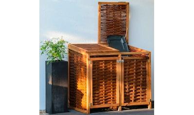 DOBAR Mülltonnenbox 2x120l, BxTxH: 125x80x115 cm kaufen