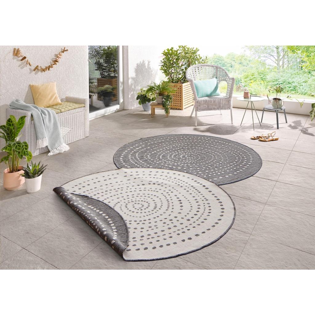 bougari Teppich »Bali«, rund, 5 mm Höhe, In- und Outdoor geeignet, Wendeteppich, Wohnzimmer