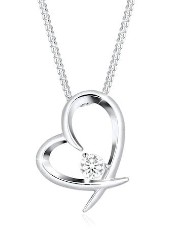 Elli Collierkettchen »Herz Geschwungen Zirkonia 925 Silber« kaufen
