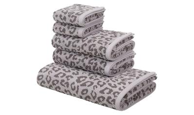 my home Handtuch Set »Leo«, mit Leo-Muster kaufen