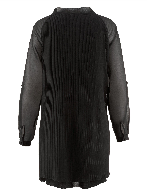 Alba Moda Bluse aus zartem Chiffon aufwendig plissiert