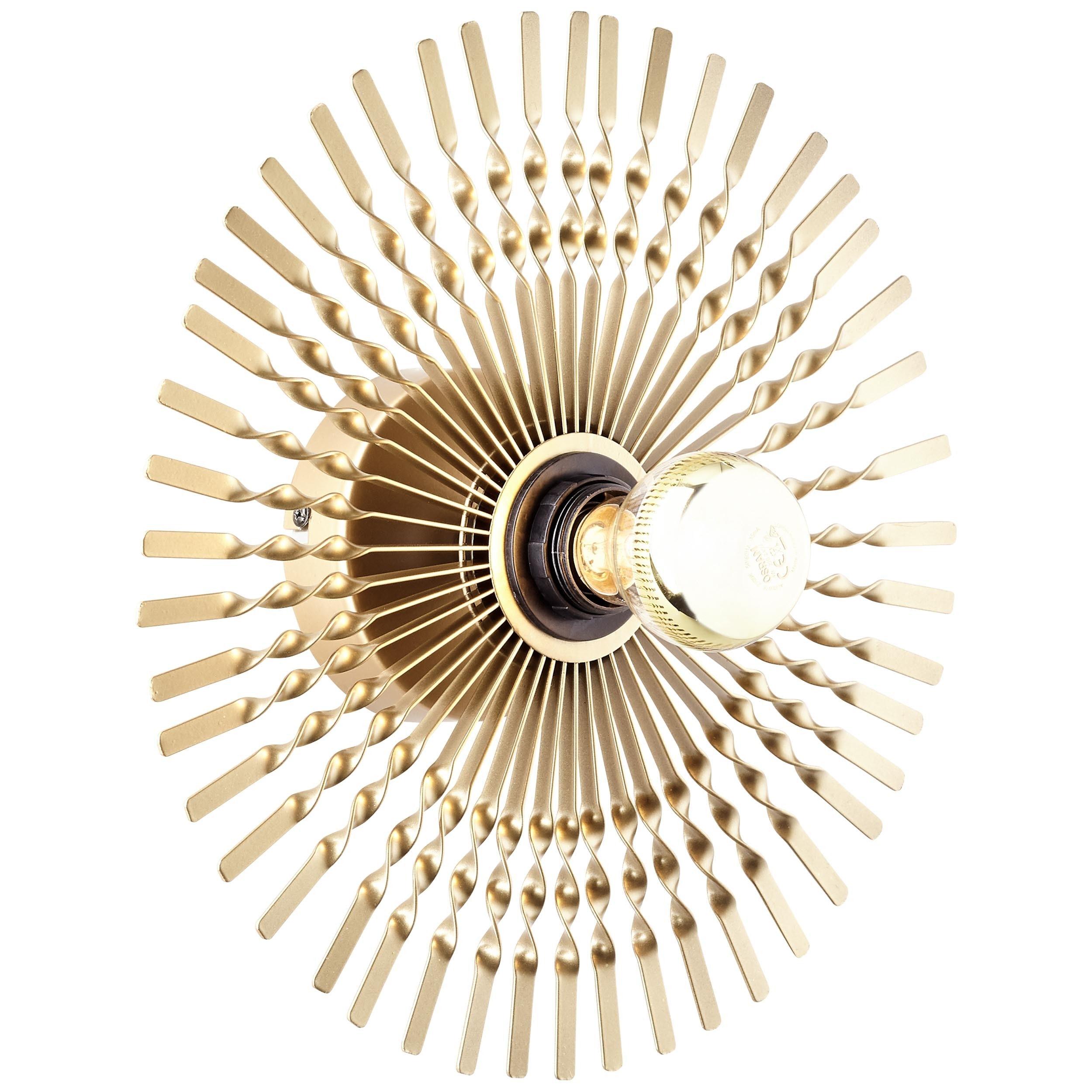 Brilliant Leuchten Wandleuchte, E27, Mendoza Wandleuchte 33cm gold