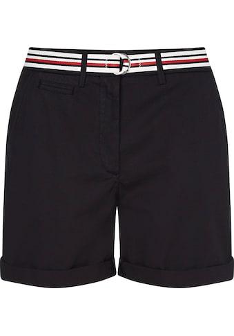 Tommy Hilfiger Shorts »Cotton Tencel Chino RG Short«, mit Gürtel in Tommy Farben kaufen