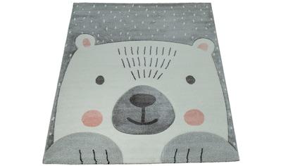 Paco Home Kinderteppich »Cosmo 346«, rechteckig, 18 mm Höhe, Kinder Design, niedliches Bär Motiv in Pastell-Farben kaufen