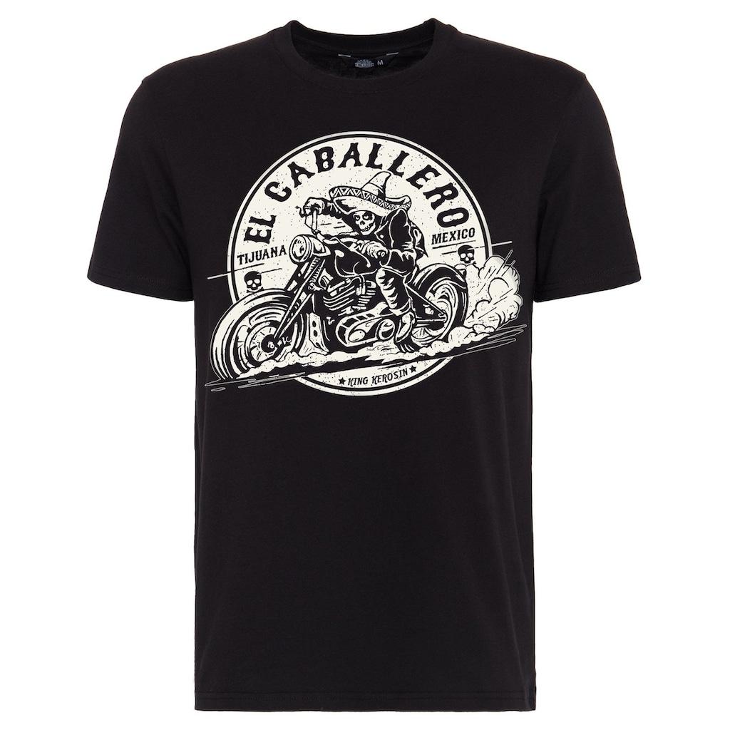 KingKerosin Print-Shirt »El Caballero«, mit Front Print