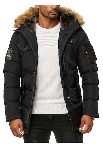 BLACKROCK Steppjacke, mit modischem Lederbesatz und Kapuze kaufen