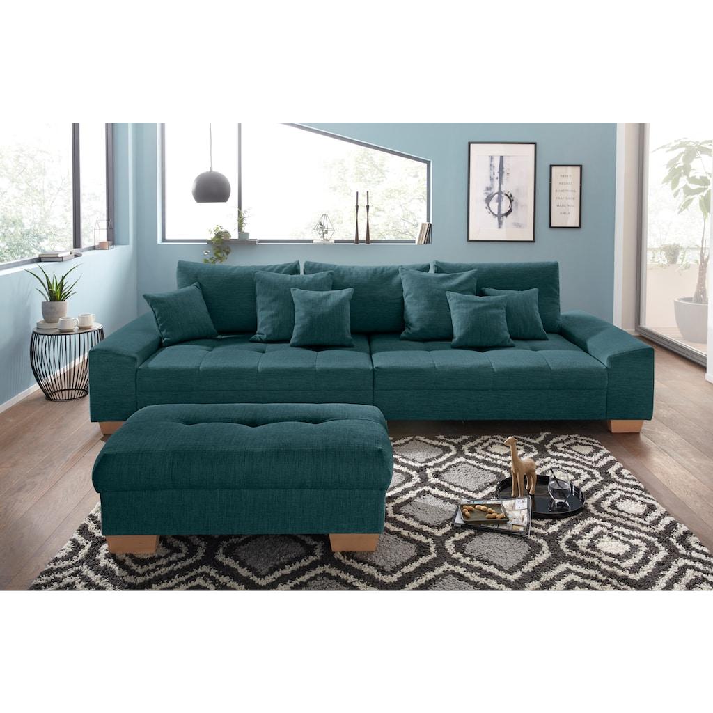 Nova Via Big-Sofa, wahlweise mit Kaltschaum (140kg Belastung/Sitz) und AquaClean-Stoff für leichte Reinigung mit Wasser