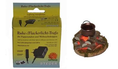 Alfred Kolbe Krippen-Zubehör »Lagerfeuer mit Beleuchtung und Trafo 230V« kaufen
