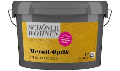SCHÖNER WOHNEN-Kollektion Wandfarbe »Metall-Optik Effektfarbe gold«, 1 l kaufen