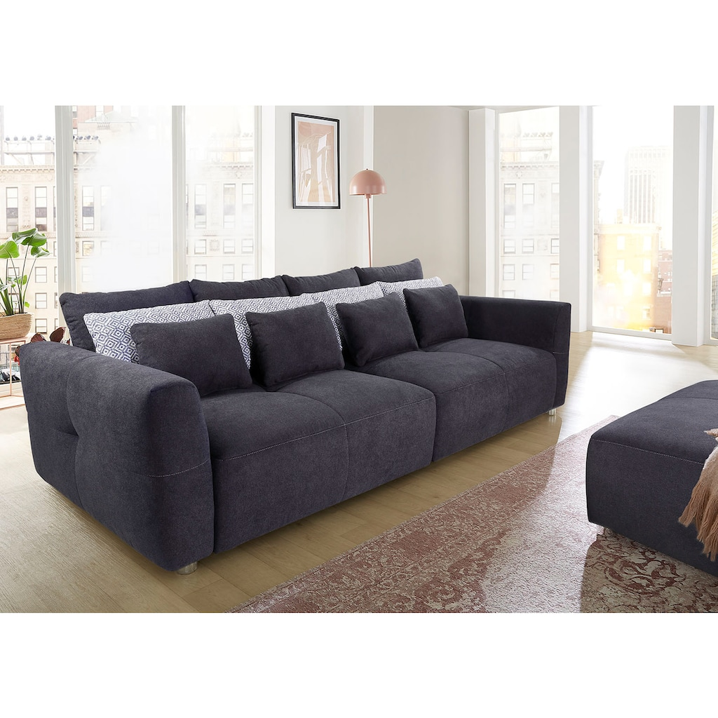 INOSIGN Big-Sofa, mit Federkernpolsterung für kuscheligen, angenehmen Sitzkomfort im trendigen Design