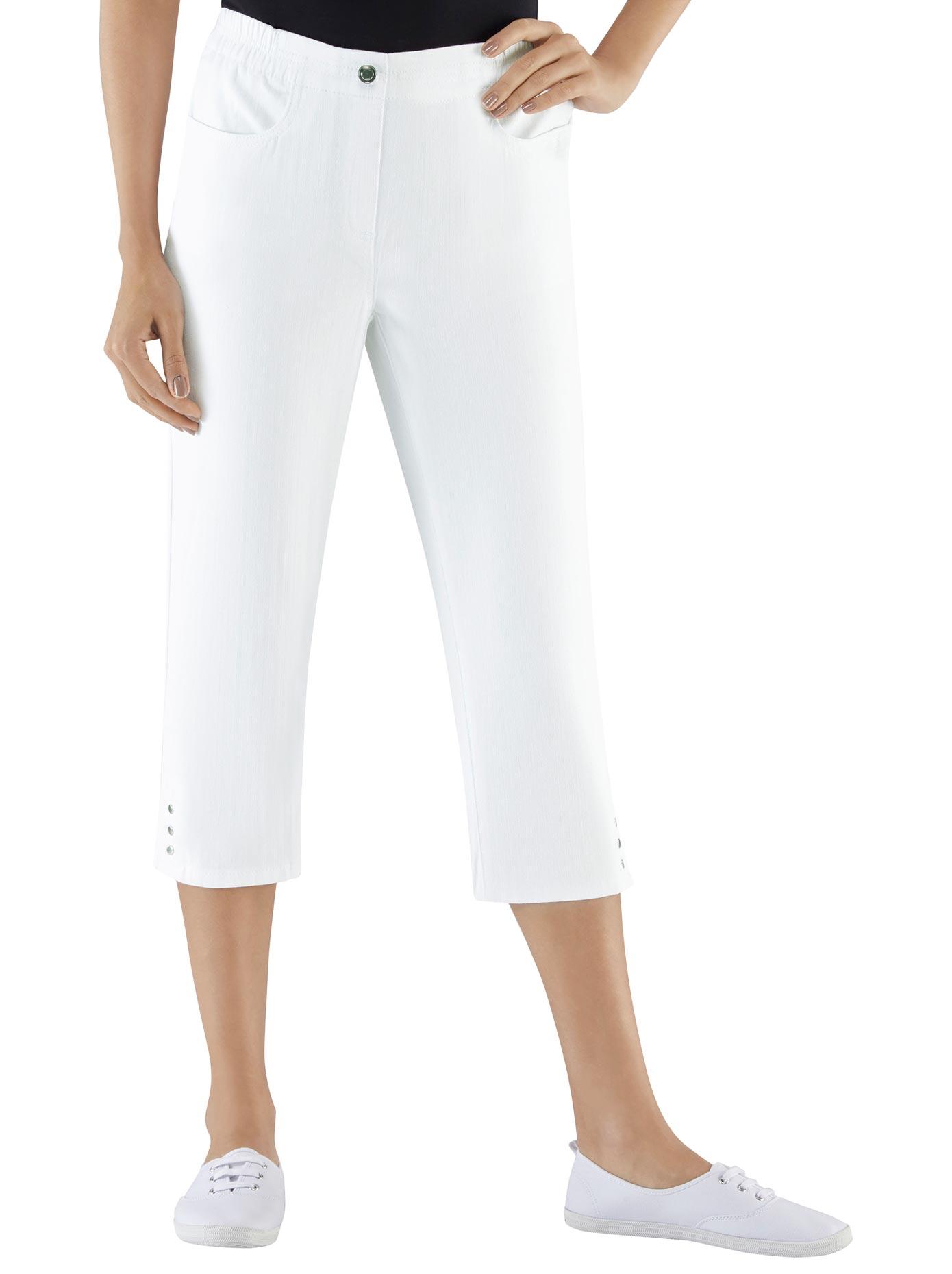 Classic Basics Capri-Jeans mit Rundum-Dehnbund | Bekleidung > Jeans > Caprijeans | Weiß | Jeans | Classic Basics