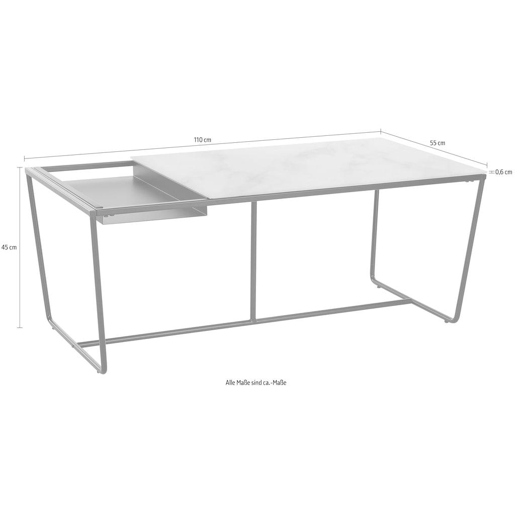 LeGer Home by Lena Gercke Couchtisch »Ellea«, Tischplatte aus Glas, herausnehmbares Tablett