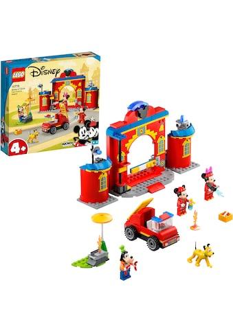 LEGO® Konstruktionsspielsteine »Mickys Feuerwehrstation und Feuerwehrauto (10776),... kaufen