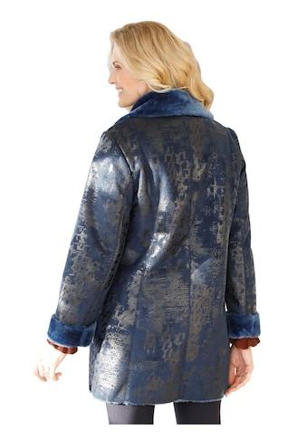 Classic Basics Jacke mit dezent glänzendem Druck kaufen
