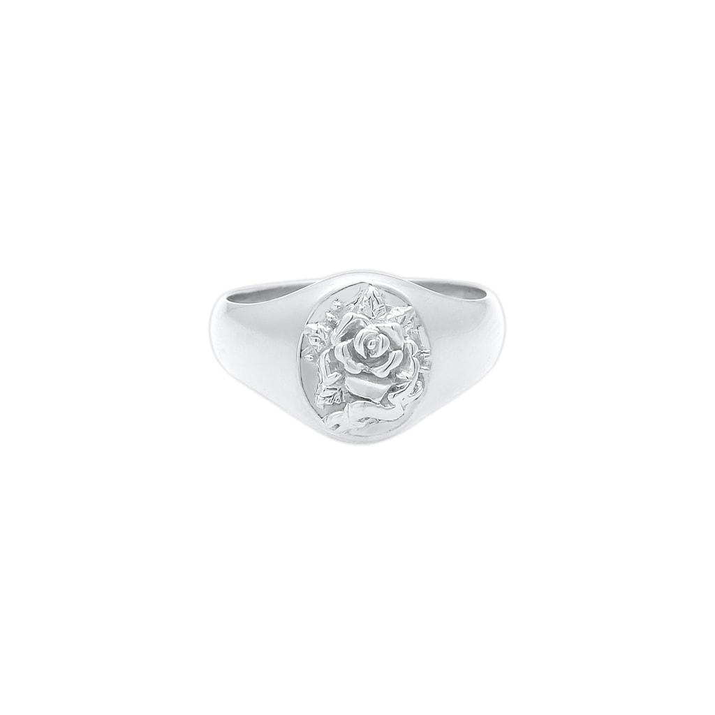 Elli Siegelring »Siegelring Damen Rose 925er Silber«