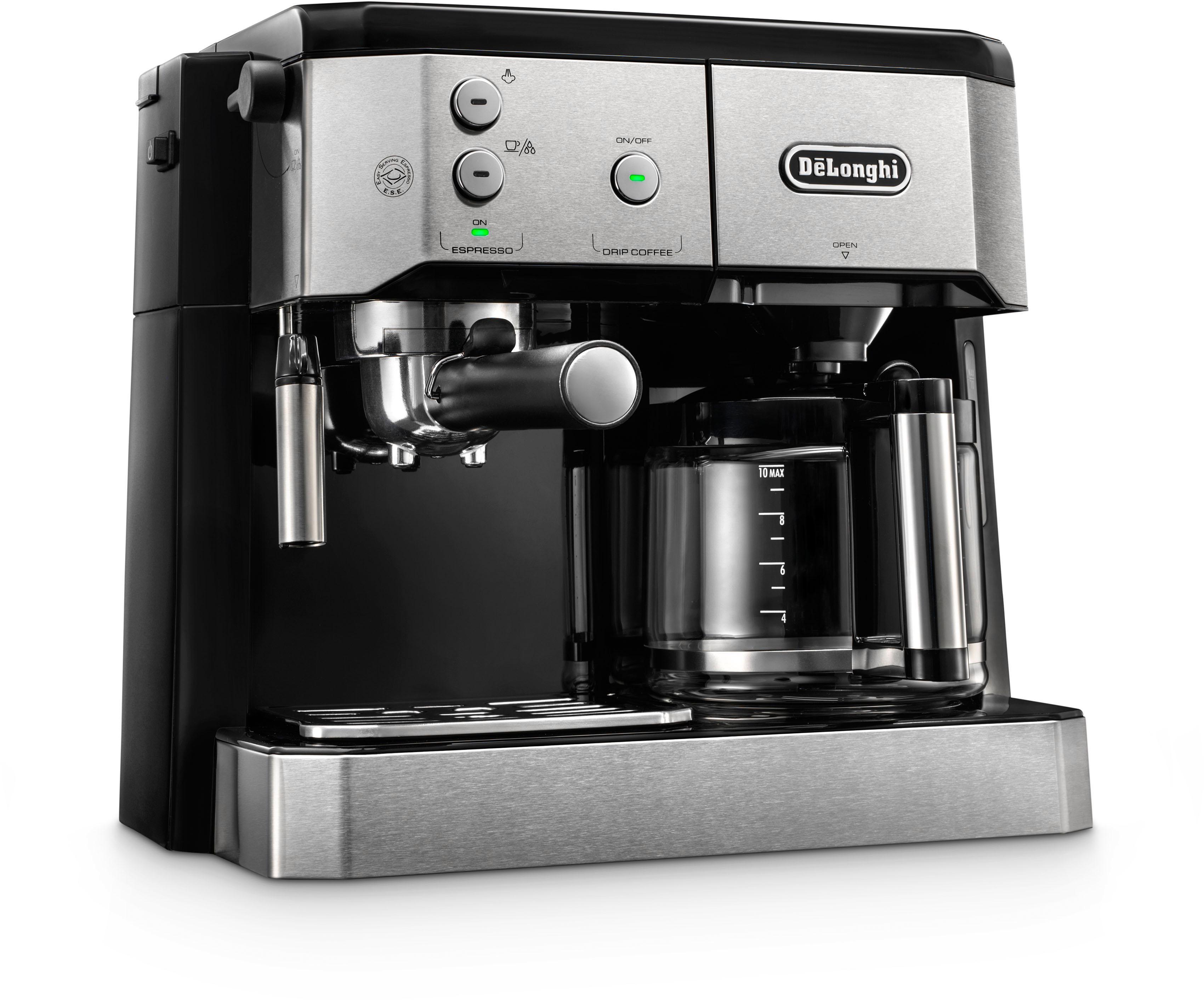 De'Longhi Siebträger-/Filterkaffeemaschine BCO 421.S, Papierfilter schwarz Kaffee Espresso SOFORT LIEFERBARE Haushaltsgeräte