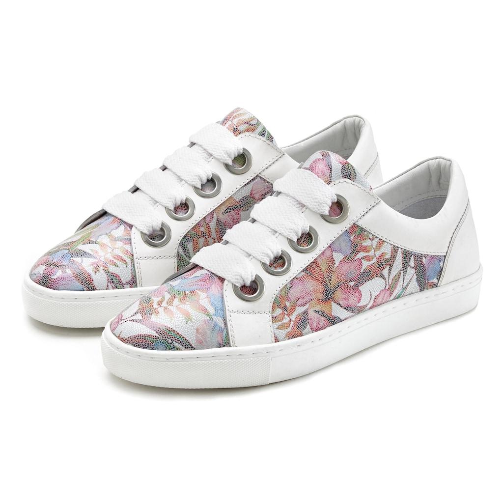 LASCANA Sneaker, aus Leder mit Blumenprint