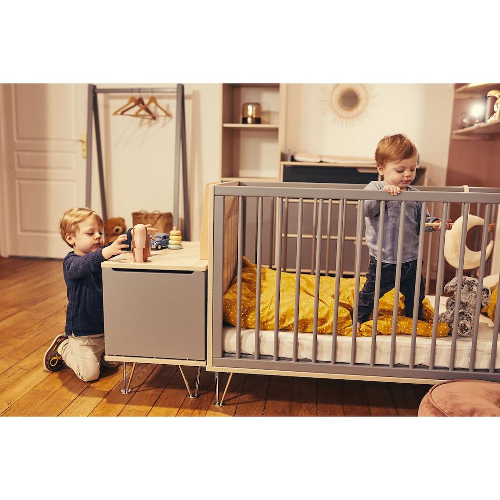 Geuther Babyzimmer-Komplettset »Marit, grau/anthrazit«, (Set, 3 St.), mit Kinderbett, Kleiderschrank und Wickelkommode; Made in Germany