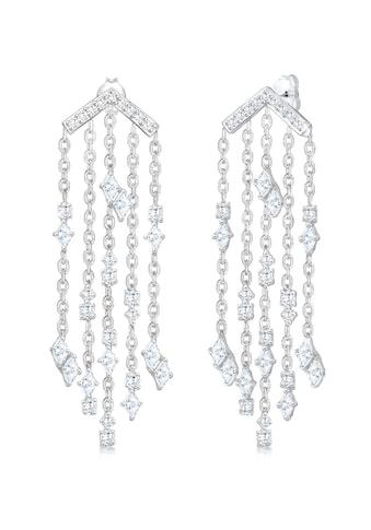 Elli Paar Ohrhänger »Hänger Marquise Geo Zirkonia Funkelnd 925 Silber« kaufen