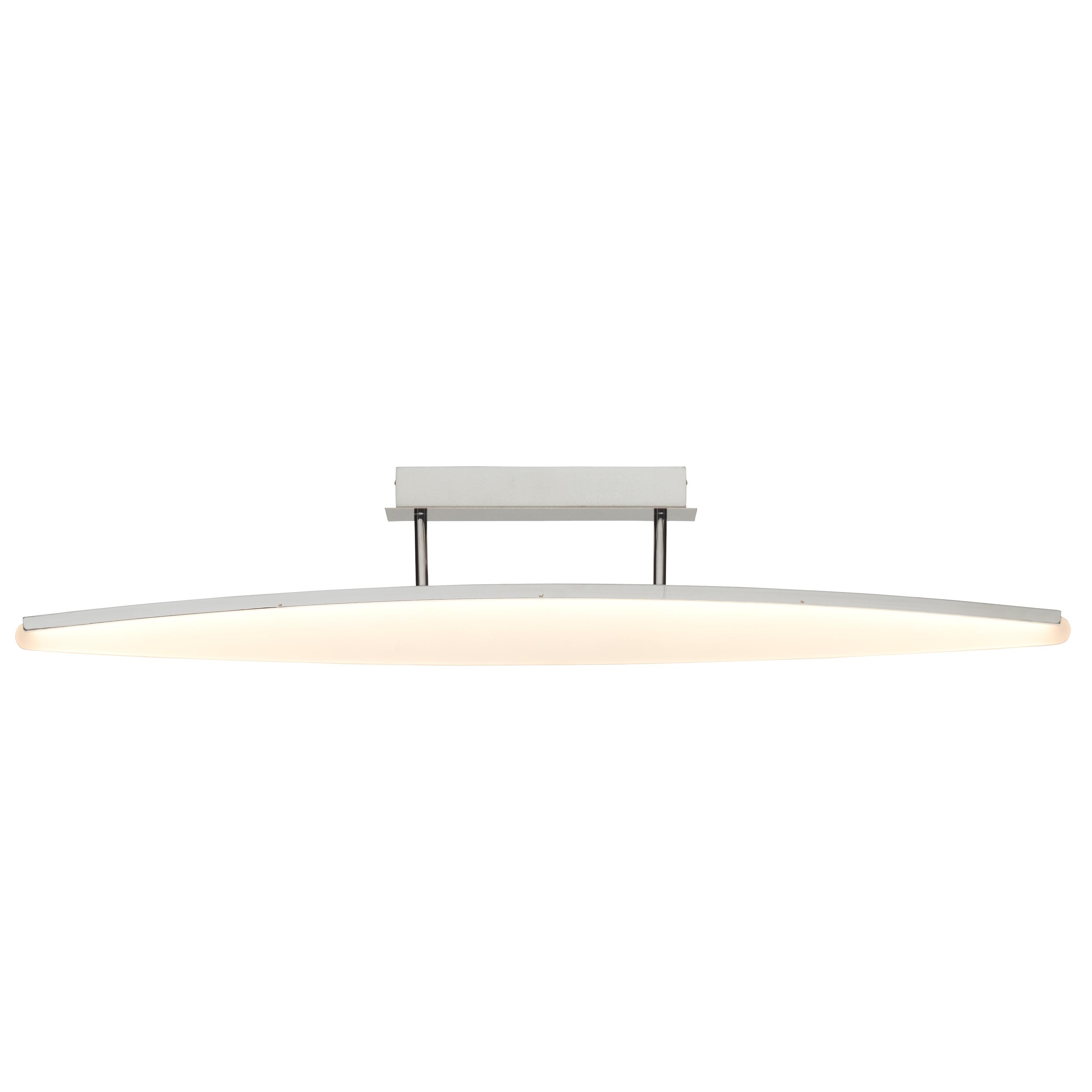 Brilliant Leuchten View LED Deckenleuchte 101x15cm chrom/weiß