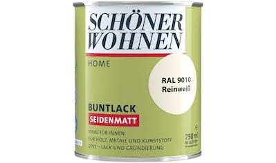 SCHÖNER WOHNEN-Kollektion Lack »Home Buntlack«, seidenmatt, 750 ml, reinweiß RAL 9010 kaufen
