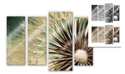 Wall-Art Mehrteilige Bilder »Pusteblumen Poesie (4-teilig)«, (Set, 4 St.) kaufen