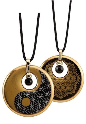 Goebel Kette mit Anhänger »Lotus, Ying Yang, 23120231«, mit Swarovski® Kristallen kaufen