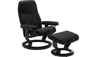 Stressless® Relaxsessel »Consul«, mit Hocker, mit Classic Base, Größe L, Gestell Schwarz kaufen