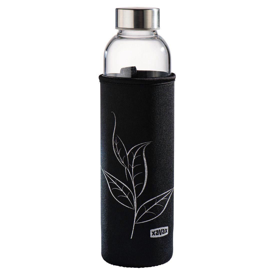 Xavax Glasflasche mit Sieb, Teeflasche, Trinkflasche schwarz Kinder Aufbewahrung Küchenhelfer Haushaltswaren Schulartikel 00111233