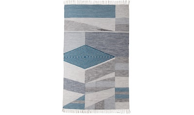 TOM TAILOR Teppich »Modern Kelim«, rechteckig, 5 mm Höhe, handgewebt, mit Fransen,... kaufen