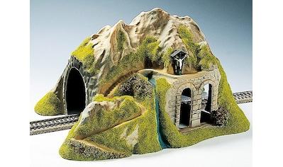 """NOCH Modelleisenbahn - Tunnel """"Modelleisenbahn Zubehör, Spur H0, Tunnel 1 - gleisig, gerade"""", Spur H0 kaufen"""