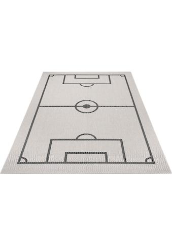 Lüttenhütt Kinderteppich »Fußballfeld«, rechteckig, 3 mm Höhe, Fußball, Spielteppich,... kaufen