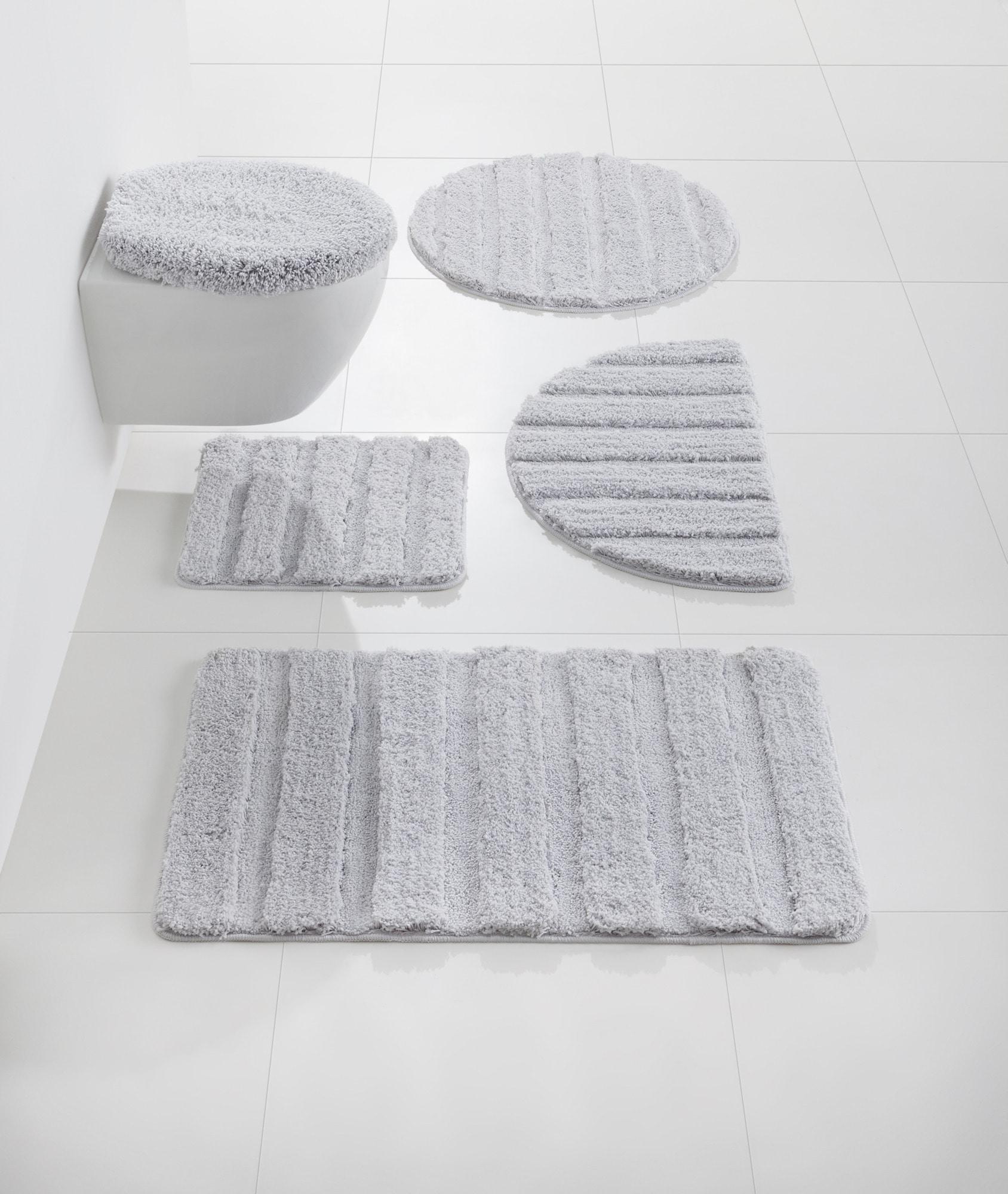 heine home Badgarnitur kuschelweiche Microfaser | Bad > Badgarnituren > Badgarnituren-Sets | Grau | Polyester | heine home
