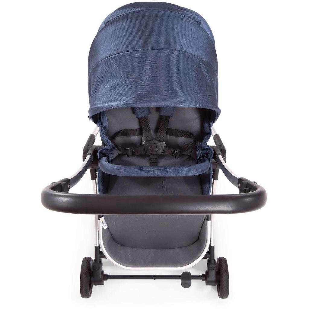 Hauck Kombi-Kinderwagen »Eagle 4S Duoset, denim/grey«, mit Babywanne, Fußsack und Moskitonetz; Kinderwagen