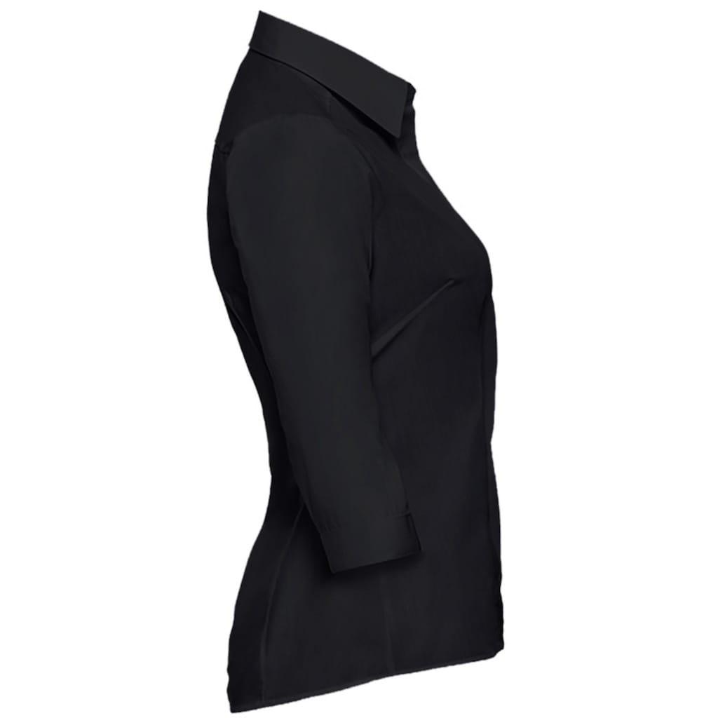 Russell 3/4-Arm-Shirt »Collection Popelin Bluse, pflegeleicht, tailliert, 3/4-Ärmel«